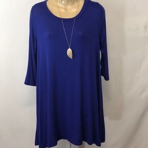 NWOT Love In Blue Tunic